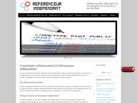 Détails : référenceuse indépendante