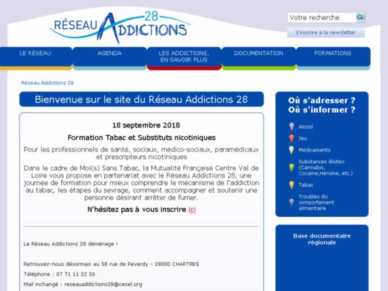 Détails : Soins addictions en Eure et Loir - Réseau Addictions 28