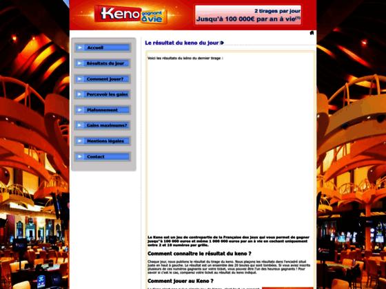 Détails : Résultat keno: découvrez chaque jour si vous avez gagné