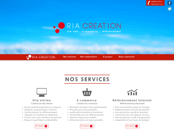 Détails : Ria Création, Création de Sites Internet & Référencement