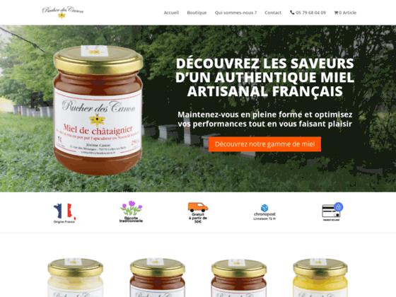 image du site https://www.rucherdescanon.fr