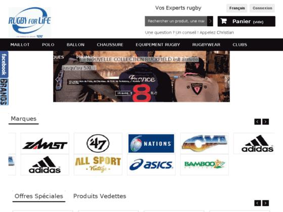 Détails : Rugby for life – vente en ligne équipement rugby