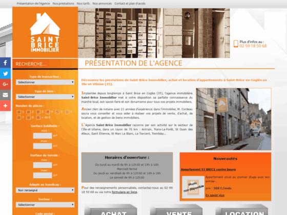 Détails : Saint Brice Immobilier : Agence immobilière à St Brice en Coglès (35)