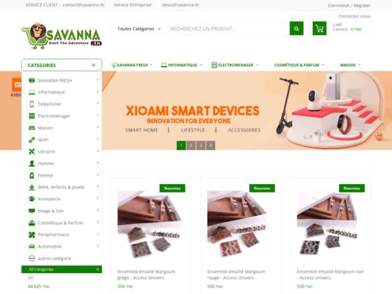image du site http://www.savanna.tn