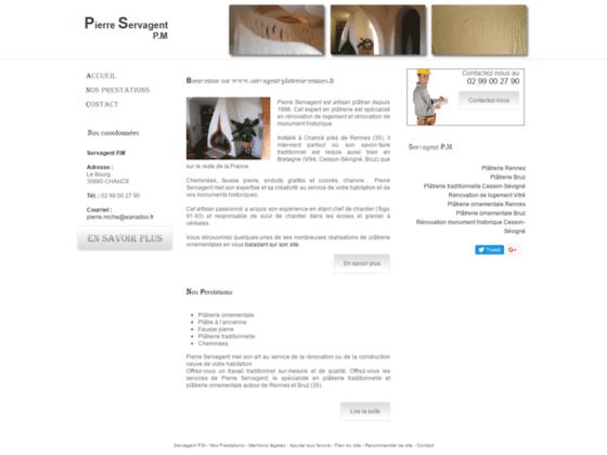 Détails : Servagent P.M Plâtrerie traditionnelle Cesson-Sévigné