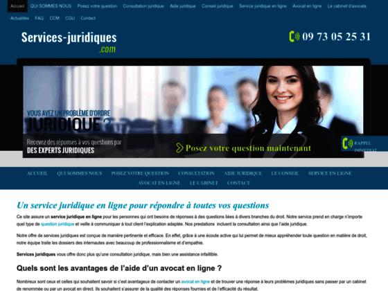 Détails : Services juridiques : Conseil d'avocats en ligne pour aide juridique