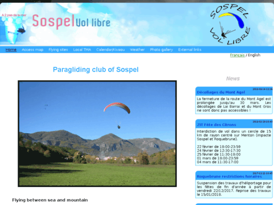 Photo image Le Blog du Club de Sospel Vol Libre