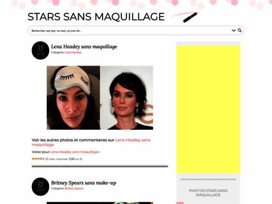 Détails : Stars sans maquillage