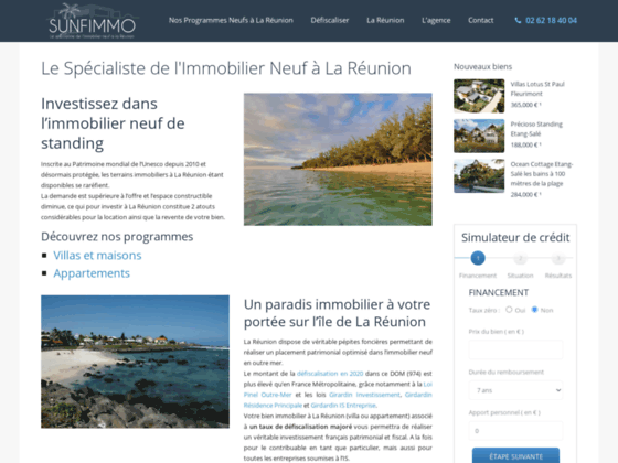 Détails : Sunfimmo l'immobilier neuf à la Réunion