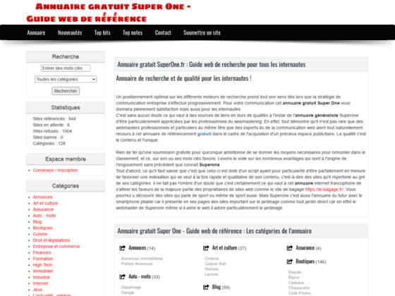 Détails : Annuaire SuperOne.fr