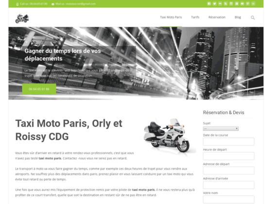 Détails : taxi moto parisien