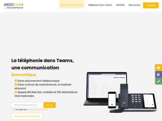 image du site https://teamsphony.com