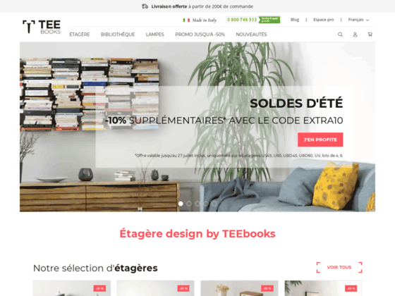 Détails : Etagère murale étagère design -Teebooks