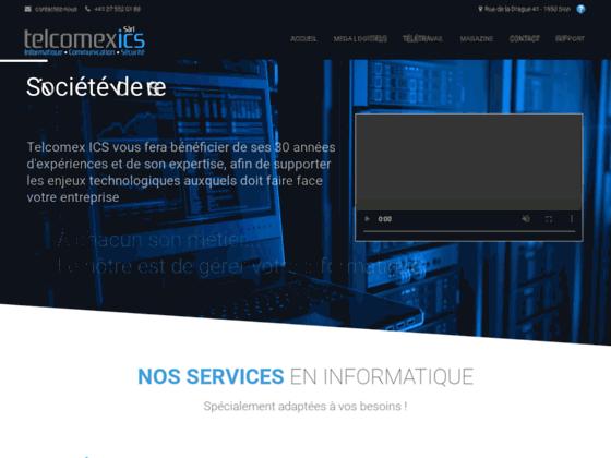 image du site http://www.telcomex-ics.ch