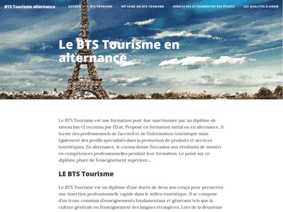 Tout savoir sur le BTS tourisme en alternance