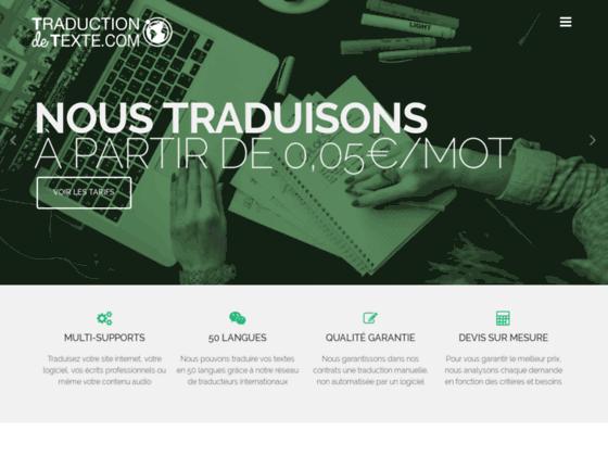 Détails : Agence de traduction - Traduction de texte et contenu web