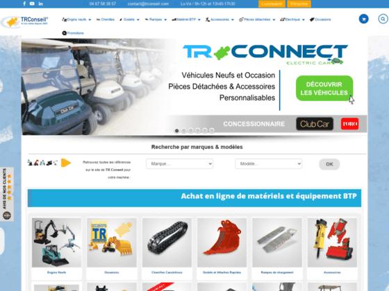 TRConseil : vente de matériels viticoles et de BTP