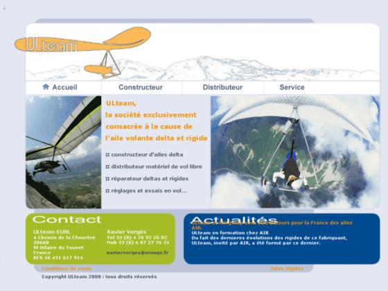 Photo image Ulteam vol libre : constructeur, distributeur, révision ailes delta et ailes rigides, réparations, r