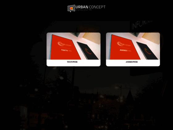 Journal lumineux - panneau lumineux à led : Urban Concept