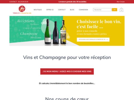 Détails : Vins et champagne pour mariage