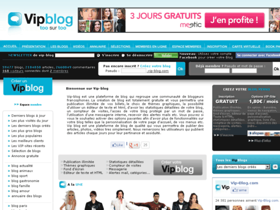 image du site http://www.vip-blog.com