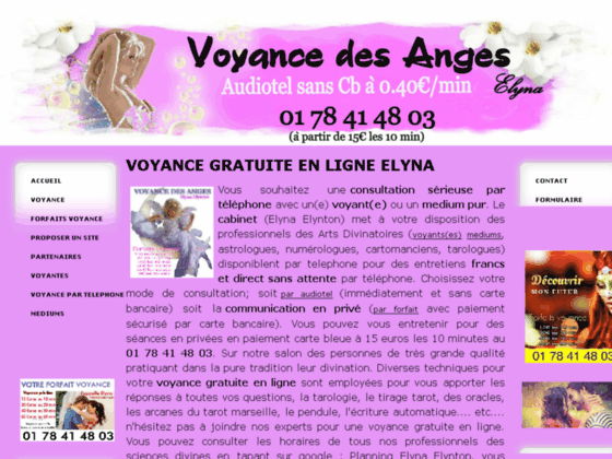Voyance des Anges: voyante ASTRID, LOUNA, MARGOT, ANGELE, OPALINE EDEN