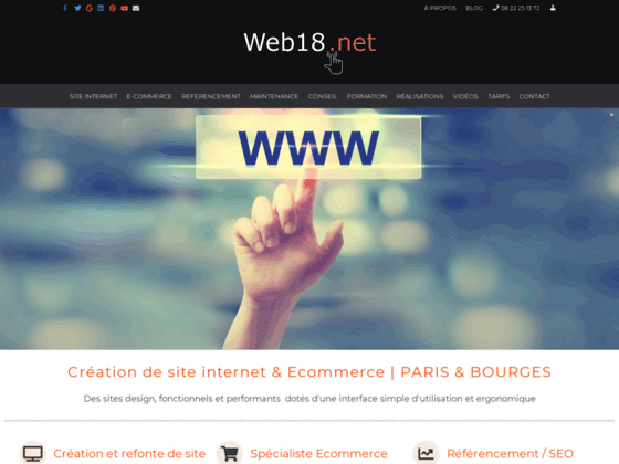 Photo image web18 creation de site internet et de boutique de vente sur-mesure