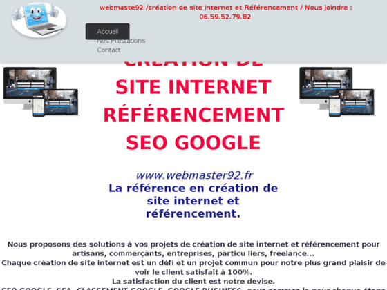 Détails : creation de site internet et referencement