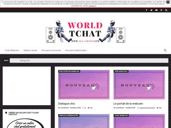 Détails : Worldtchat, tchat webcam, chat IRC, rencontre en ligne