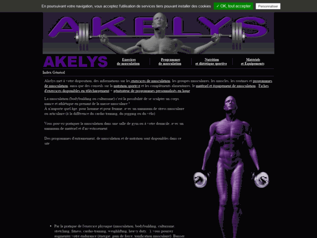 Survey of Musculation akelys (bodybuilding) programme-exercice-info musculation  - Karaoke-israel.com