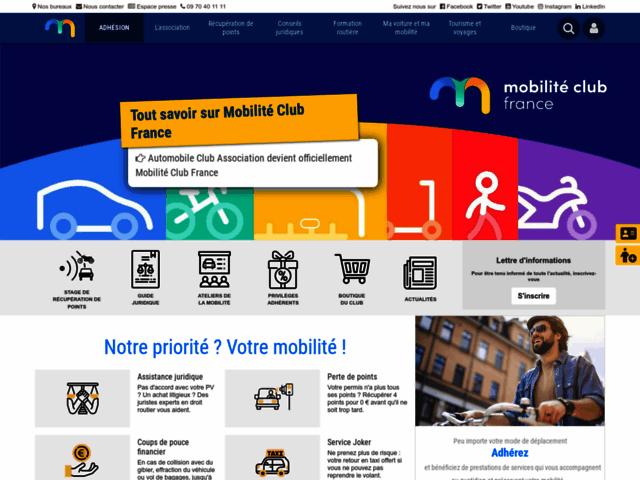 Capture d'écran du site automobile-club.org