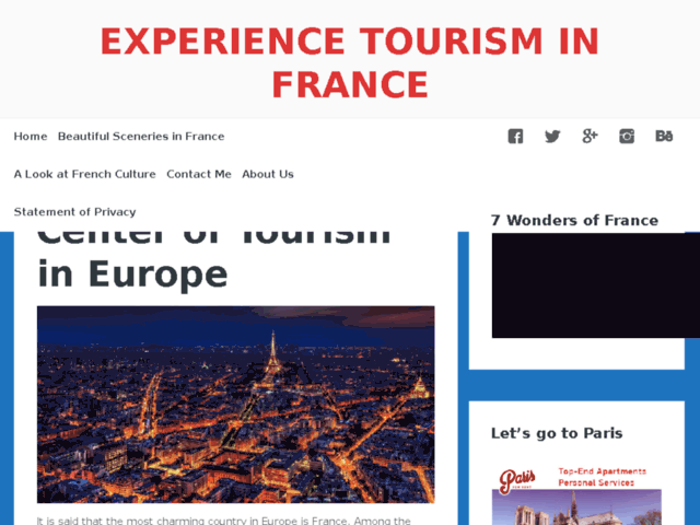 Survey of Experience tourism in france – france is the heart of tourism in europe  - Karaoke-israel.com