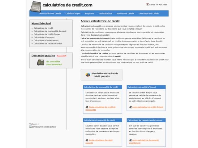Survey of Calculatrice de credit et calculateur de credit  - Karaoke-israel.com