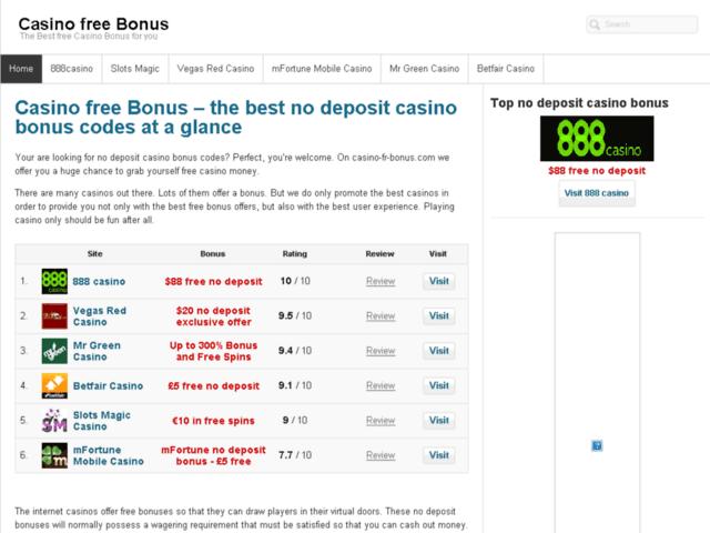 Survey of The best no deposit casino bonus codes at a glance  - Karaoke-israel.com