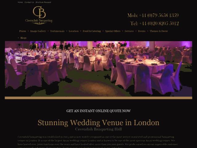 Asian wedding venue london -Cavendish Banqueting
