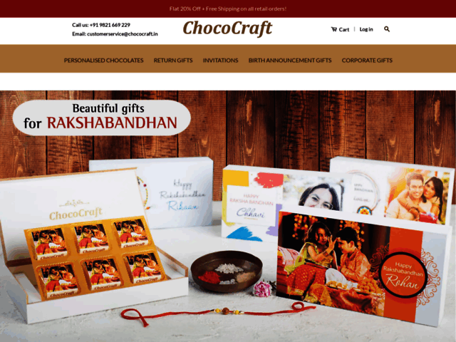 Buy Online - Order customised chocolates online in Delhi for wedding invitations, birthday, diwali gift