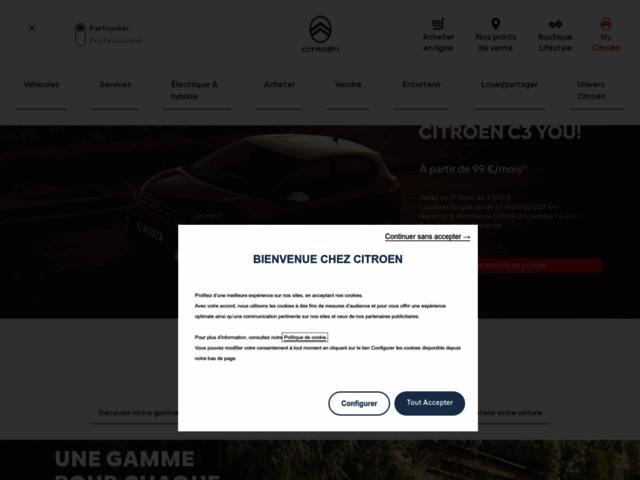 Capture d'écran du site citroen.fr