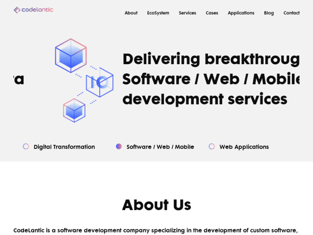 Software Development Company   Mobile Application   CodeLantic