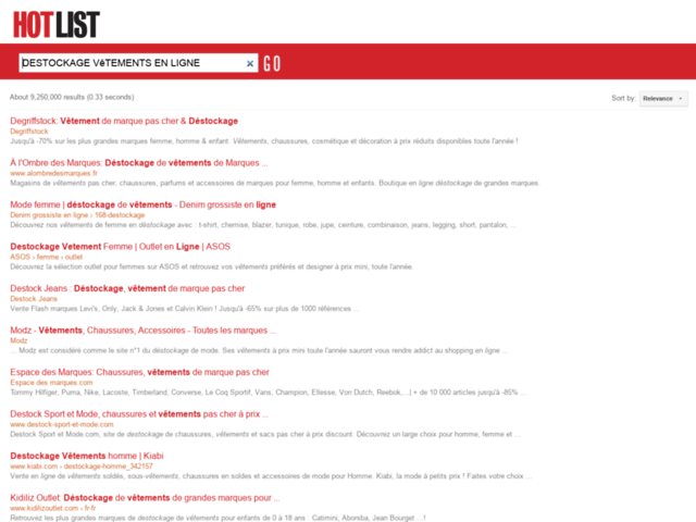 Survey of Destockwear : vêtements fashion homme et femme  - Karaoke-israel.com