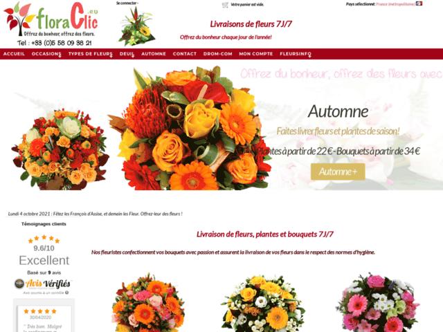 Survey of Floraclic: livraison fleurs 7j/7 - envoi de fleurs en 4h  - Karaoke-israel.com