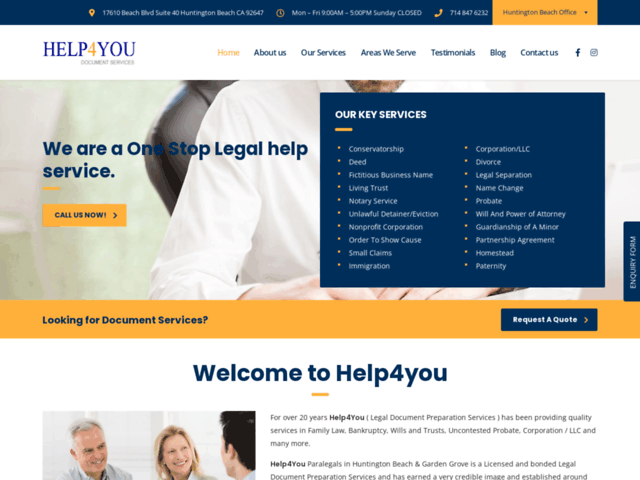 Paralegal Services in Orange County