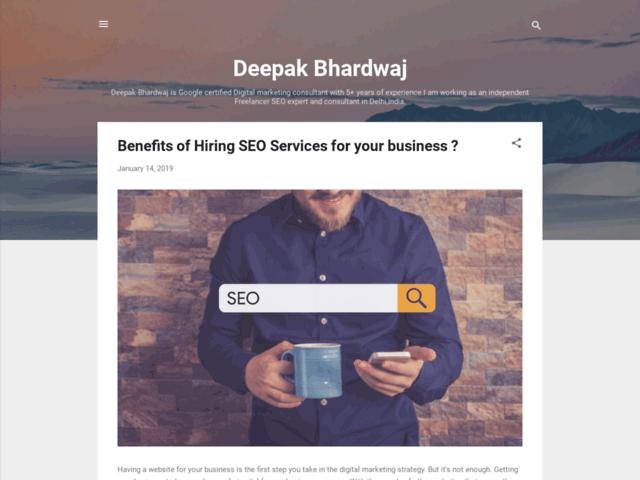 Deep Bhardwaj SEO services