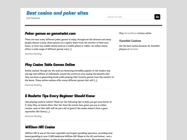 Survey of Best casino and poker sites: full reviews  - Karaoke-israel.com