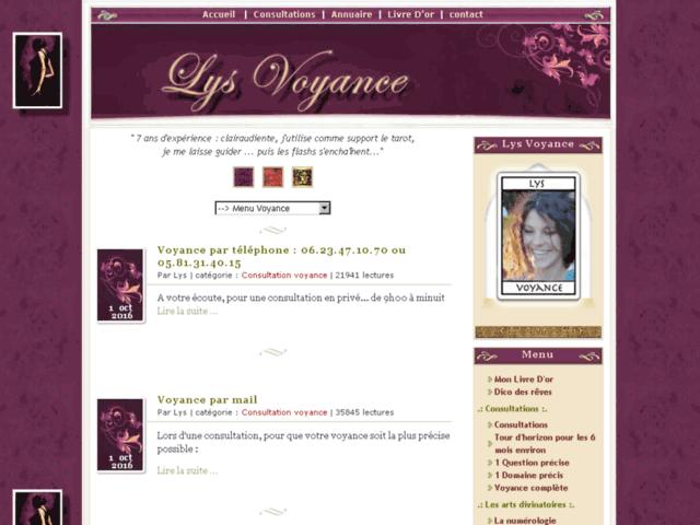 Survey of Lys voyance - consultation voyance  - Karaoke-israel.com