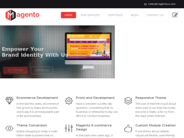 Magento Ecommerce Website Design Company