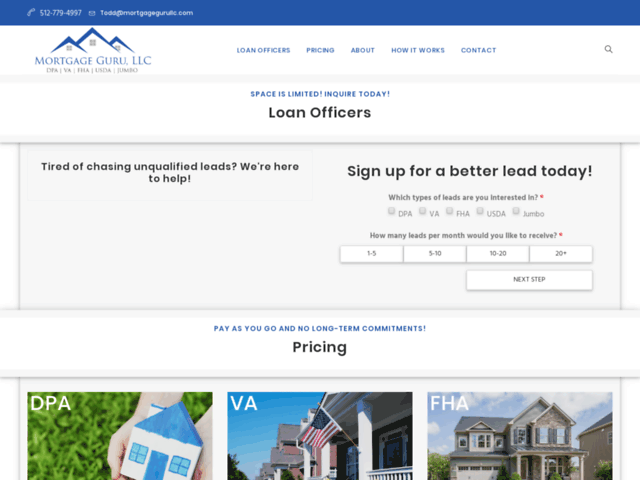 Mortgage Leads for Loan Officer - Mortgage Guru, LLC