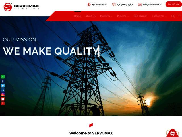 Servomax Limited – Manufacturer, Supplier & Exporter in Hyderabad