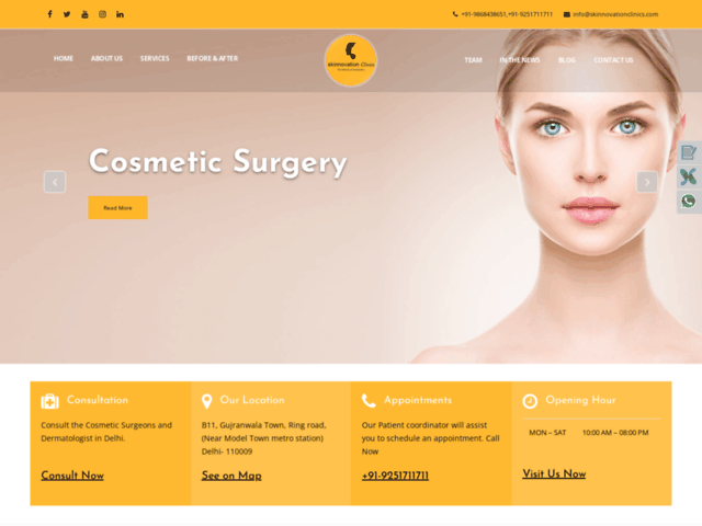 Skinnovation Clinic – Fat Grafting Surgery in Delhi