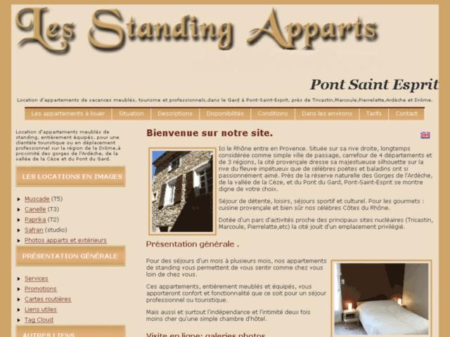 Aperçu de Location d'appartements dans la drôme,tourisme en ardèche,meublés de standing,pont saint esprit  - Karaoke-israel.com