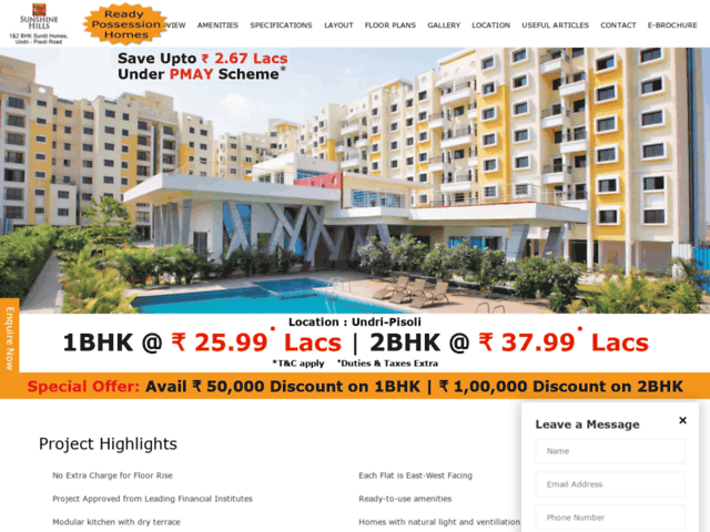 1BHK and 2BHK Flats in Pune. Book your dream property in Pune.
